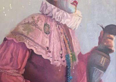 Antonio Maya - El hospital de los locos - Óleo sobre lienzo - 1985