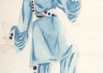 Figurín de Arlequín - (1942)