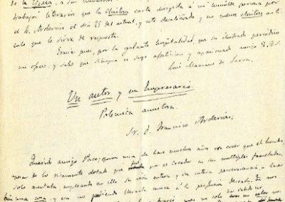 Manuscrito de Luis Mariano de Larra